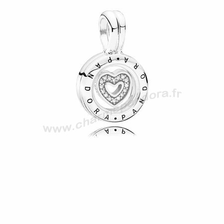 Pas Cher COLLECTIONS Lockets Médaillon flottant Sapphire CrystalGlass Clear CZ En Ligne