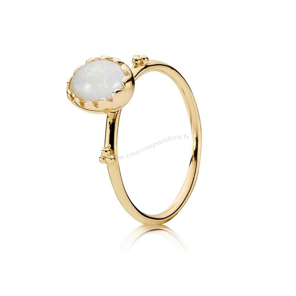 Pas Cher PANDORA COLLECTIONS Bague Sweet Sweetness White Opal 14K Or En Ligne