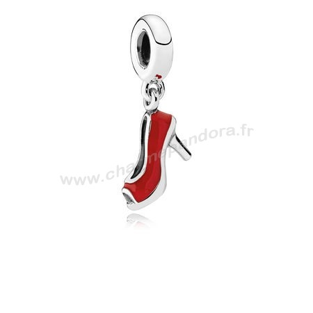 Pas Cher PANDORA Passions Charms Chic Breloque Glamour Red Stiletto Red Enamel En Ligne