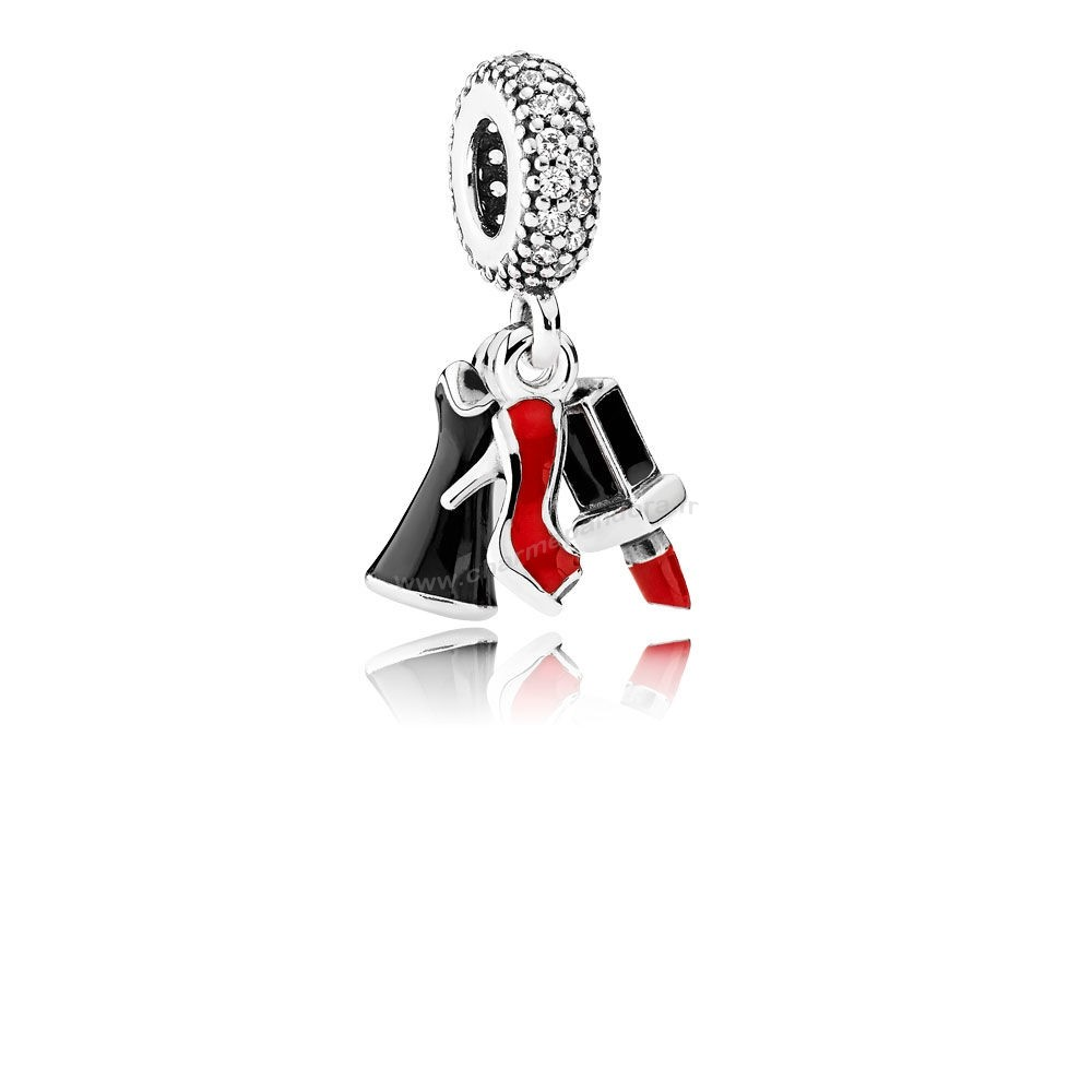 Pas Cher PANDORA Passions Charms Chic Glamour Glamour Trio Charme Dangle Mixed émail Clear CZ En Ligne