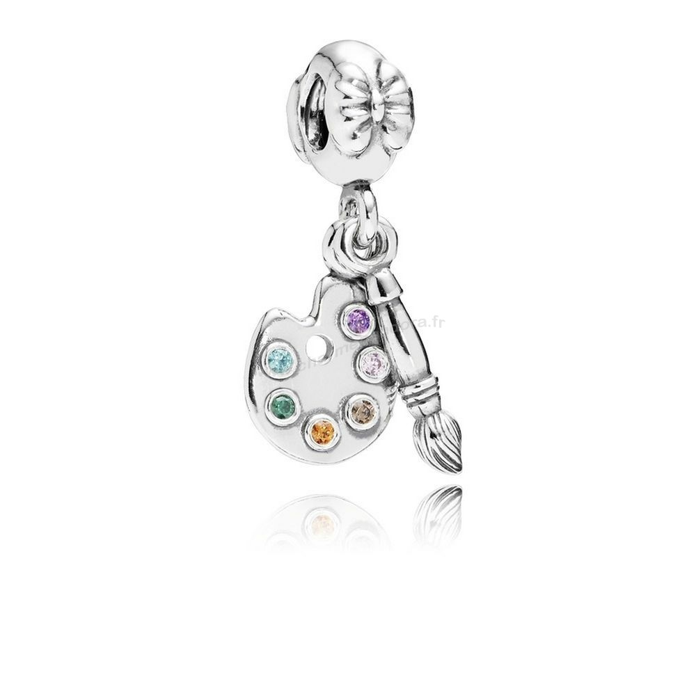 Pas Cher PANDORA Passions Charms Musique Arts Artiste Palette Dangle Charm Multi Colour CZ En Ligne