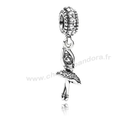 Pas Cher PANDORA Passions Charms Sports Loisirs Ballerine Dangle Charm Clear CZ En Ligne