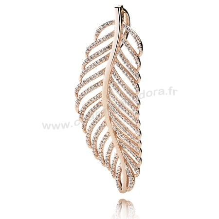 Pas Cher PANDORA Pendentifs Light As A Feather Pendant PANDORA Rose CZ En Ligne