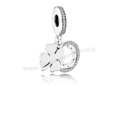 Pas Cher PANDORA Saint Patrick's Day Bon Chance Charms Chanceux Day Dangle Charm Clear CZ En Ligne