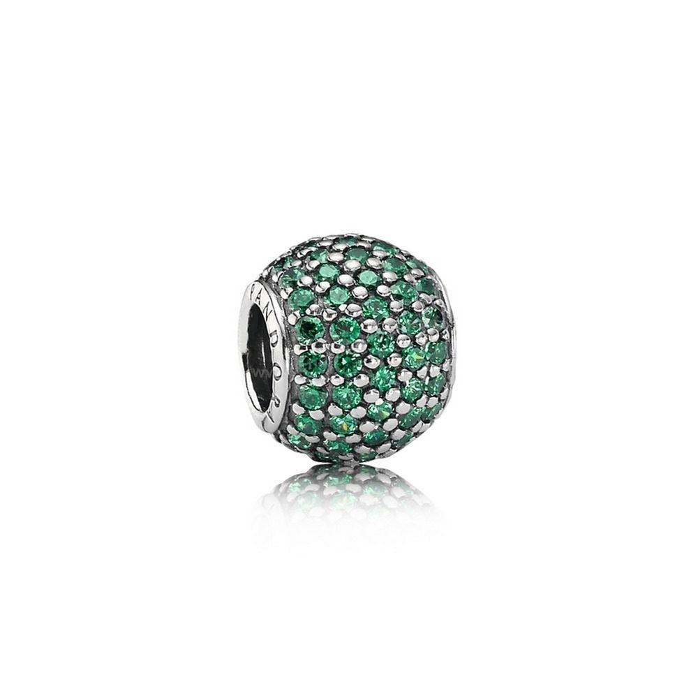 Pas Cher PANDORA Saint Patrick's Day Good Luck Charms Pavé Lights Charm Dark Green CZ En Ligne